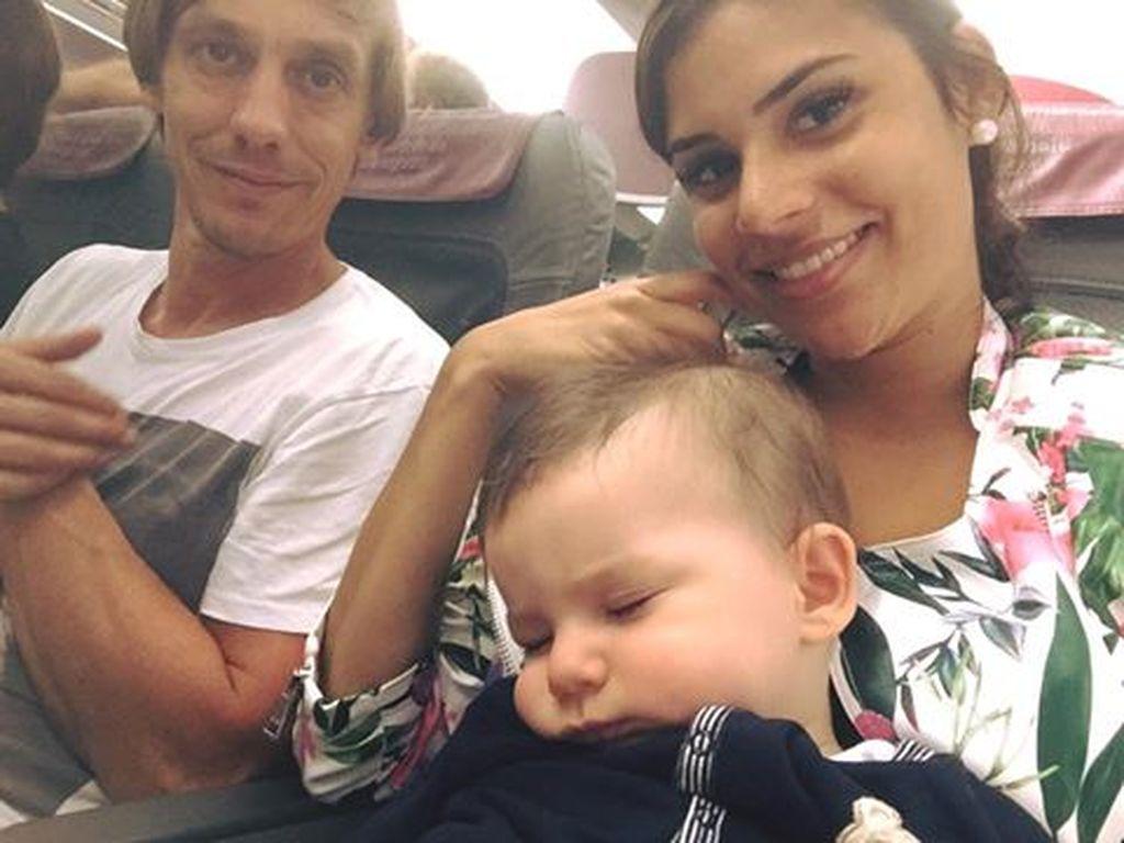 Tanja Tischewitsch mit ihrer Familie