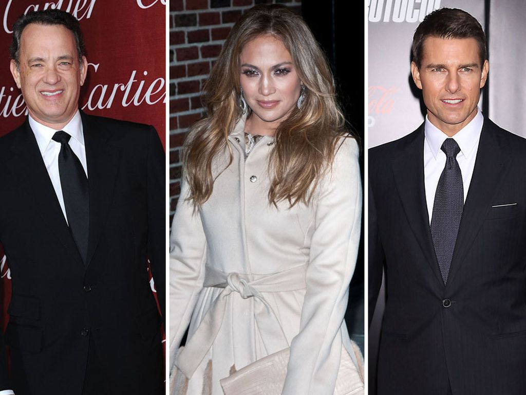 Jennifer Lopez, Tom Cruise und Tom Hanks