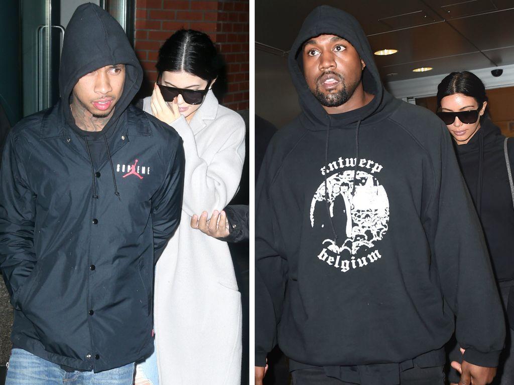 Tyga, Kylie Jenner, Kim Kardashian und Kanye West