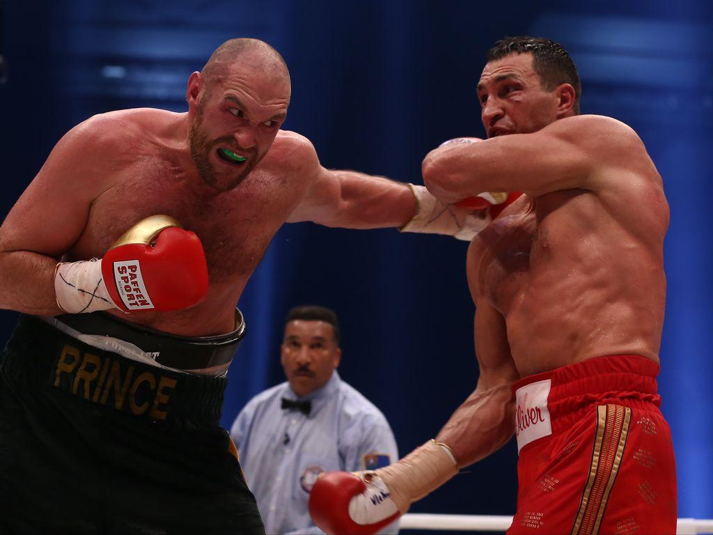 Tyson Fury und Wladimir Klitschko im November 2015