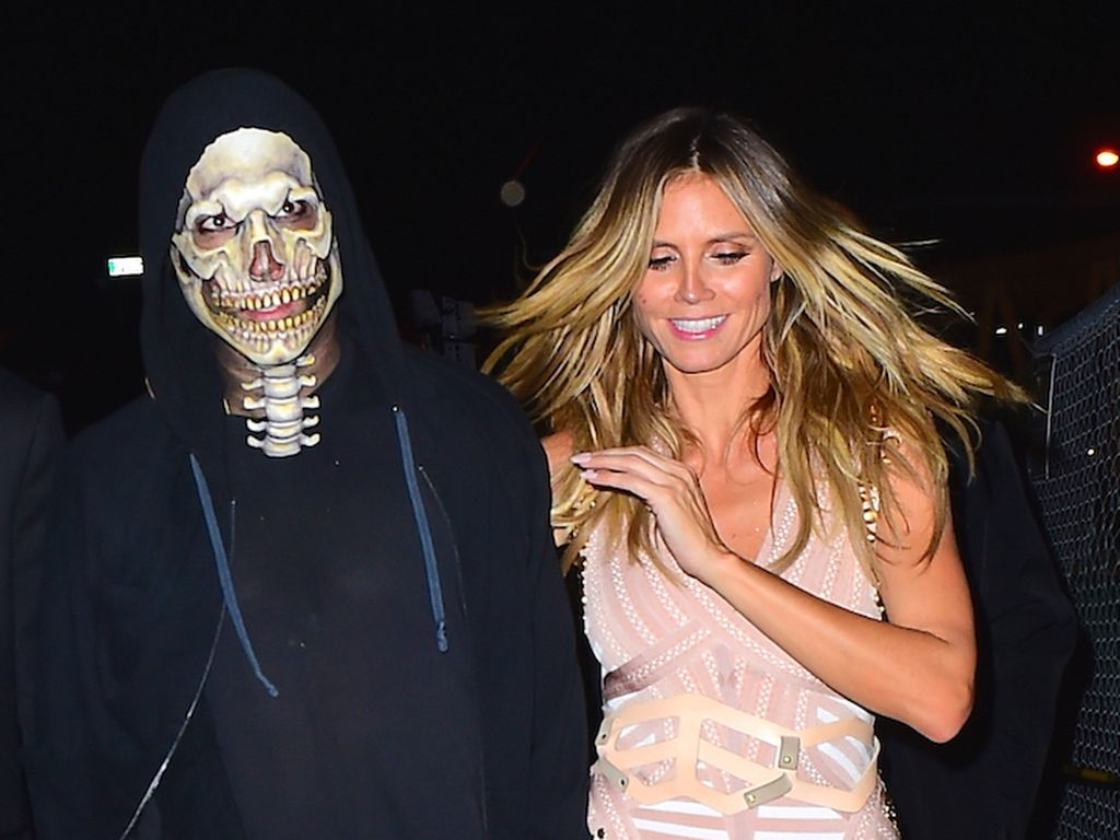 Vito Schnabel und Heidi Klum nach ihrer Halloween-Party in New York