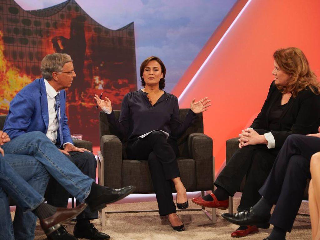 Wolfgang Bosbach, Sandra Maischberger und Jutta Ditfurth