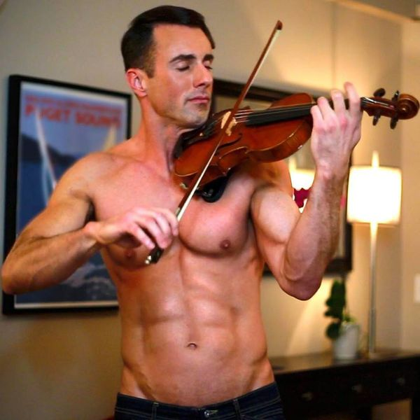 Shirtless Violinist