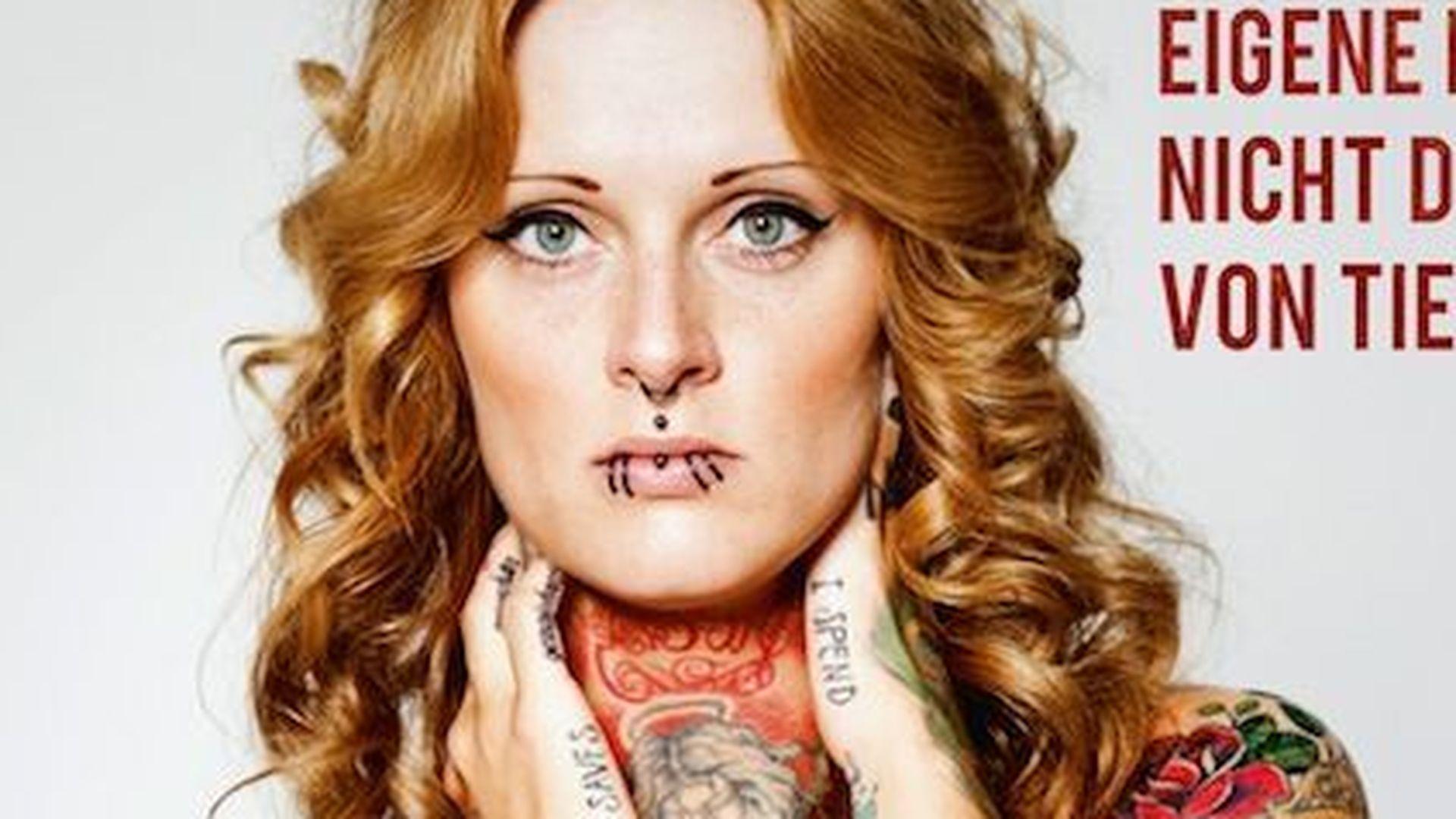 Jennifer Rostock: Nackt und tätowiert für PETA