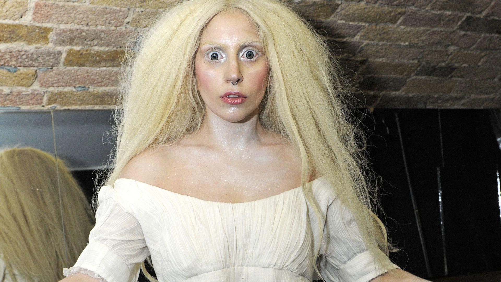 Lady Gaga Entspannt Sicht Komplett Nackt