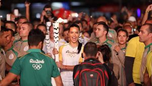 Adriana Lima bei der Eröffnungszeremonie der Olympischen Spiele 2016