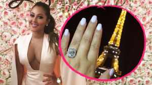 Adrienne Bailon mit ihrem Verlobungsring