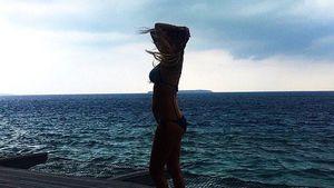 Alena Gerber auf den Malediven
