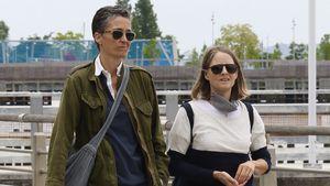 Seltener Anblick: Jodie Foster mit Frau Alexandra on Tour