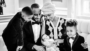 Alicia Keys und Swizz Beatz mit ihren Kindern
