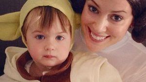 Awww! Alyssa Milano und Sohn als Leia und Yoda