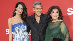 Glücklicher Mann: George Clooney mit Frau und Schwiegermama