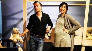 André Dietz und seine schwangere Frau Shari