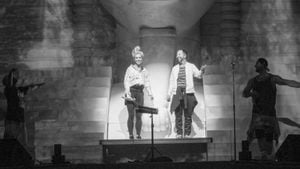 Aneta Sablik und DJ Bobo in der Europa Park Arena in Rust