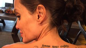 Angelina Jolies magisches Rücken-Tattoo