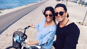 Anja Polzer und ihr Freund im Urlaub