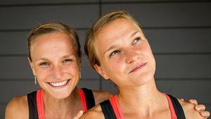 Anna (l.) und Lisa (r.) Hahner, deutsche Marathon-Läuferinnen