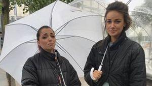 Regen-Pleite bei GZSZ: Anne Menden & Janina Uhse bibbern