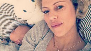 Neu-Mama Anneke Dürkopp liebt den Mittagsschlaf mit Söhnchen