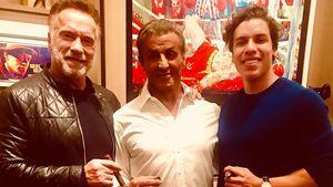 Arnie Schwarzenegger & Sly Stallone feierten Xmas zusammen!