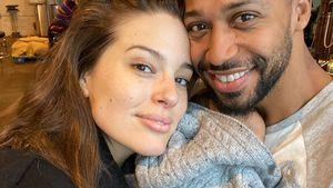 Foto zu dritt: Ashley Graham und Justin kuscheln mit Baby