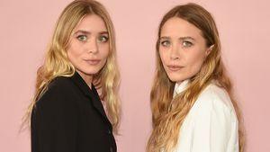 Modebewusst in der Raucherpause: Olsen-Twins in New York