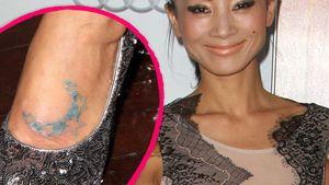 Bloß aufgemalt? Bai Ling zeigt ihr Fuß-Tattoo!