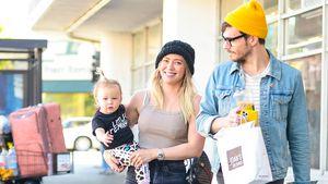 Hier strahlen Hilary Duff, Matthew und Banks um die Wette