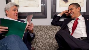 Barack Obama und Jay Leno