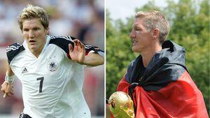 Bastian Schweinsteiger 2004 und 2014