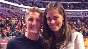 Bastian Schweinsteiger und Ana Ivanovic beim Spiel der Chicago Bulls