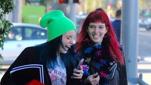 Bella und Dani Thorne nach einem Friseurbesuch in Los Angeles