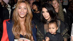 Beyoncé und Kim Kardashian bei einer Modenschau 2015