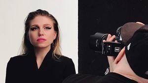 Bibi Heinicke beim Modelshooting