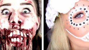 Bibi Heinicke und Dagi Bee mit Halloween-Make-up