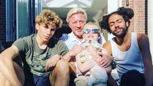 Seltenes Family-Pic: Boris Becker & Söhne posieren zu viert!