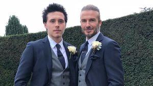 Wie Zwillinge: David & Brooklyn Beckham tragen Partnerlook!
