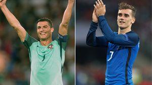 Cristiano Ronaldo und Antoine Griezmann bei der EM 2016