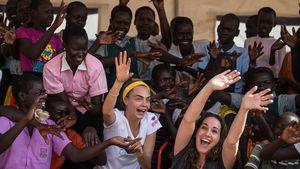 Cara Delevingne in Uganda
