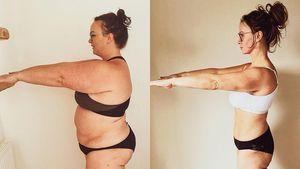 46 Kilo Unterschied! UK-Realitystar teilt Bodytransformation