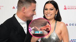 Süßer Schal-Kampf: Jessie J spielt mit Channings Tochter
