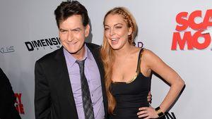 """Charlie Sheen und Lindsay Lohan bei der Premiere von """"Scary Movie 5"""""""