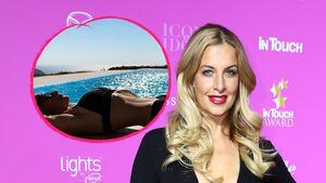 Charlotte Würdig rekelt sich im Bikini supersexy am Pool