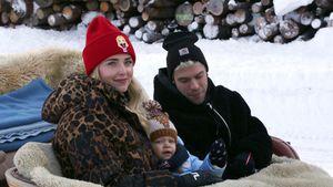 Chiara Ferragni und Fedez auf Winterkutschfahrt mit Sohn