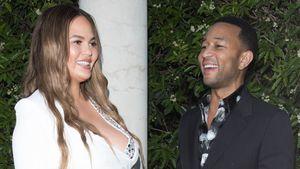 Strahlend schön: Schwangere Chrissy Teigen & John Legend
