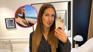 Im Badeanzug: Ex-Bachelor-Girl Clea-Lacy lässt tief blicken