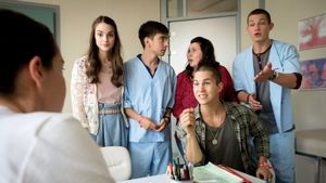 """""""Club der roten Bänder""""- Cast am Set der 2.Staffel"""