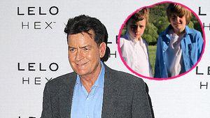 Stolzer Dad Charlie Sheen: Er teilt Pic seiner Zwillinge!