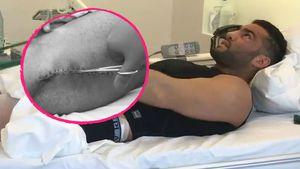 Profi-Sportler Manuel Charr 2017 im Krankenhaus