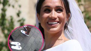 Was für eine Braut! Meghan verteilt Pantoffeln auf Hochzeit